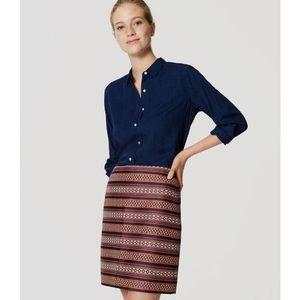 Ann Taylor Loft Jacquard Skirt. NWOT!